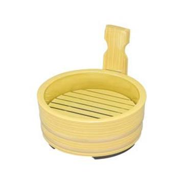 [A]5寸片手桶 白木金帯 本体